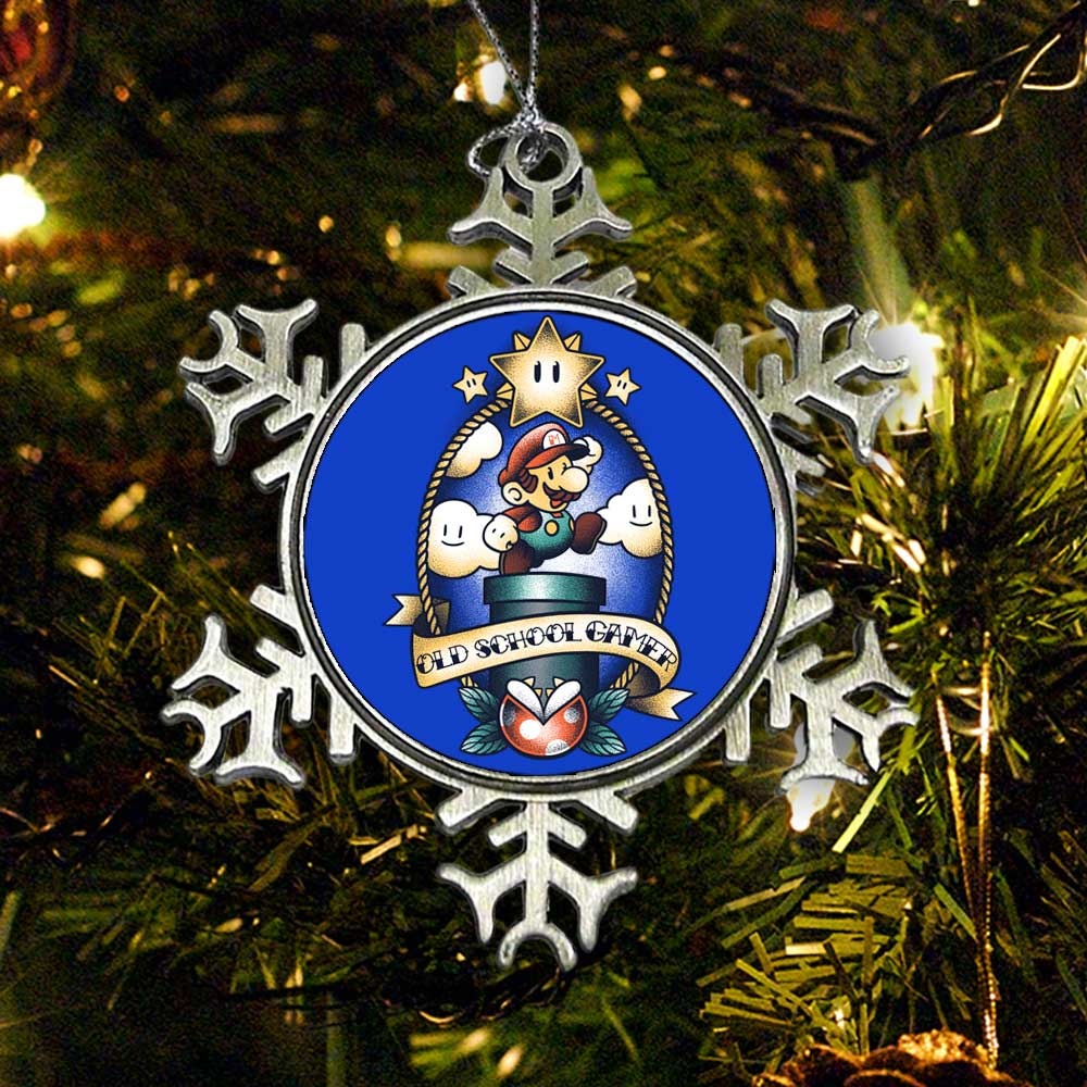 Super Old School Gamer - Ornament