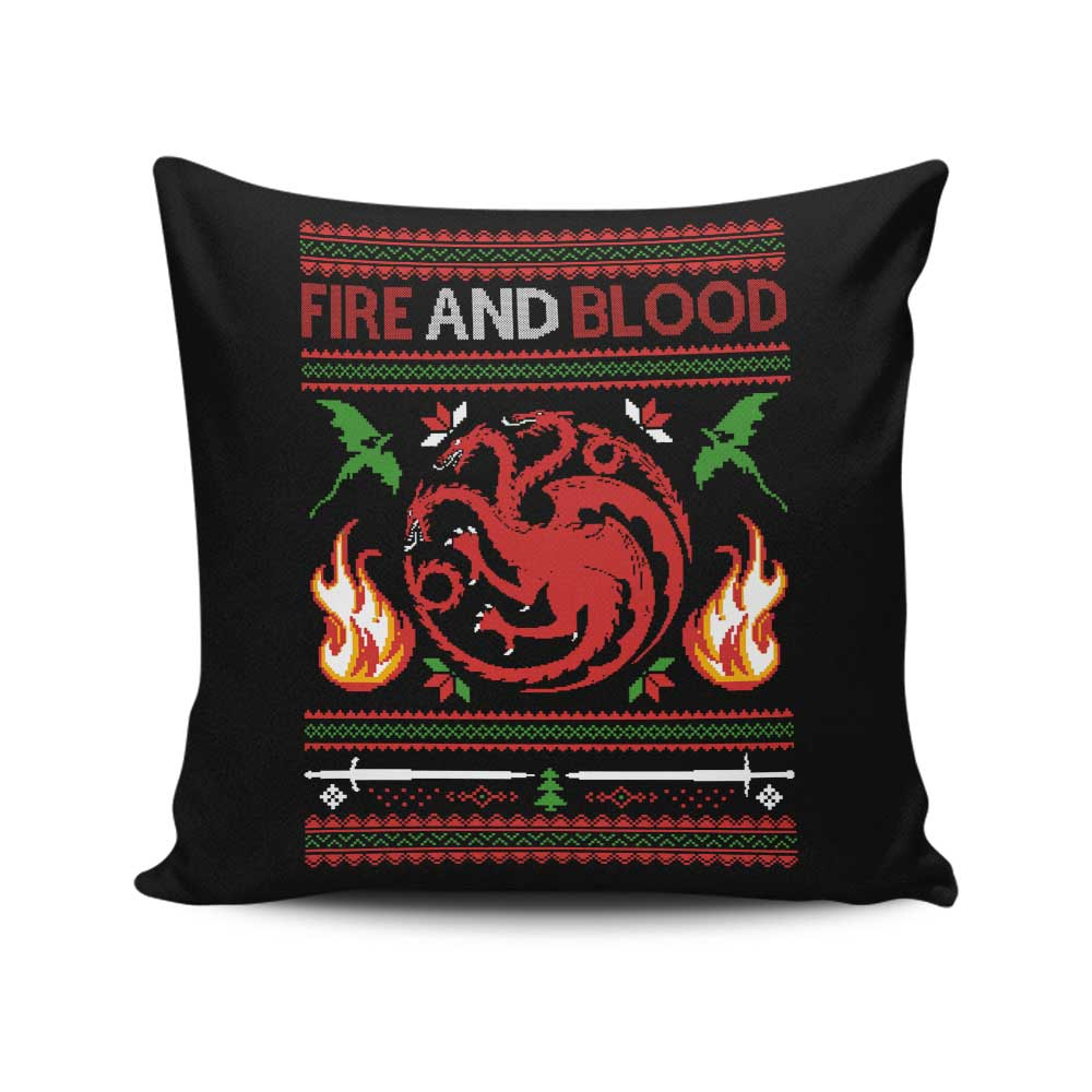 Sweater of Dragons - Throw Pillow