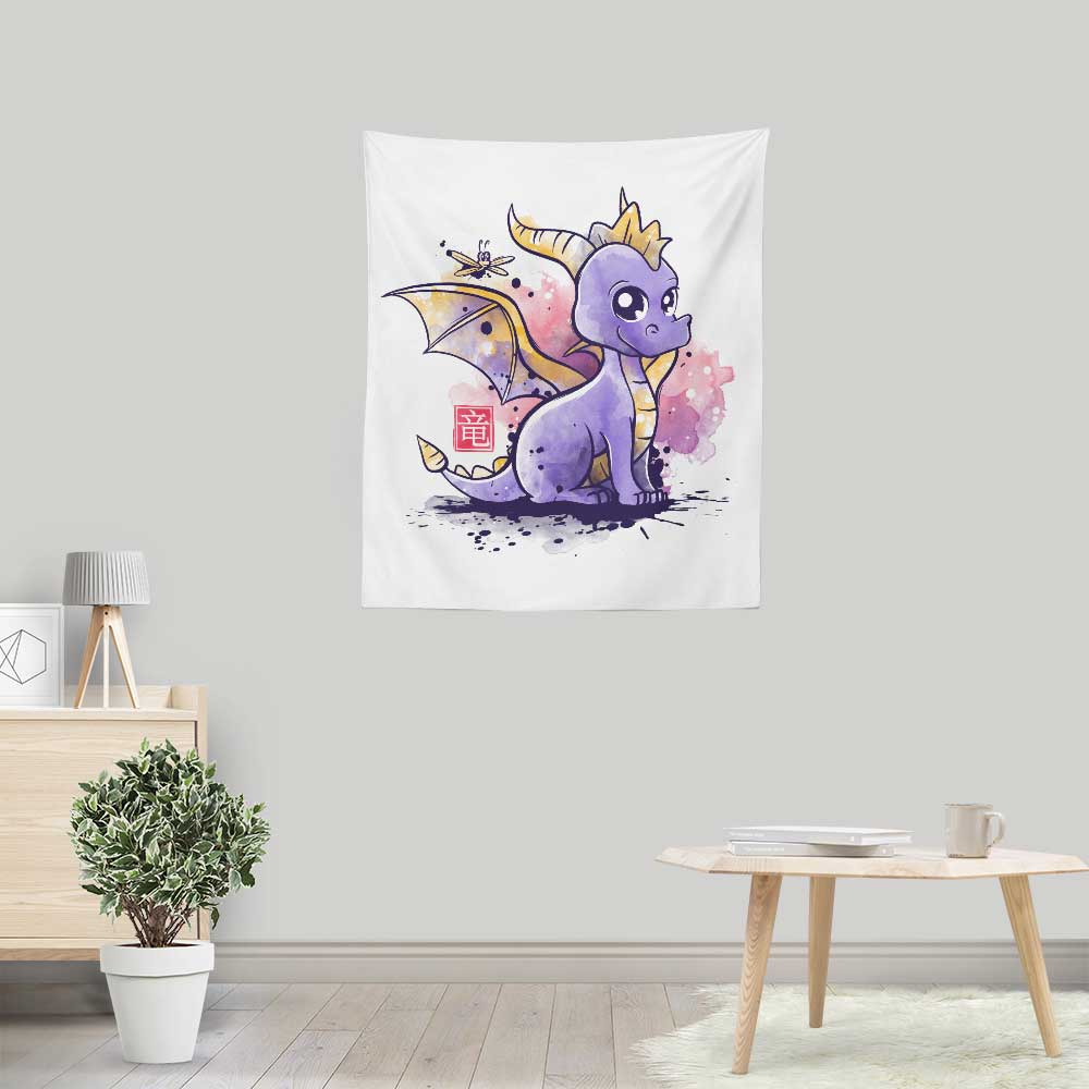 The Dragon and the Dragonfly - Wall Tapestry