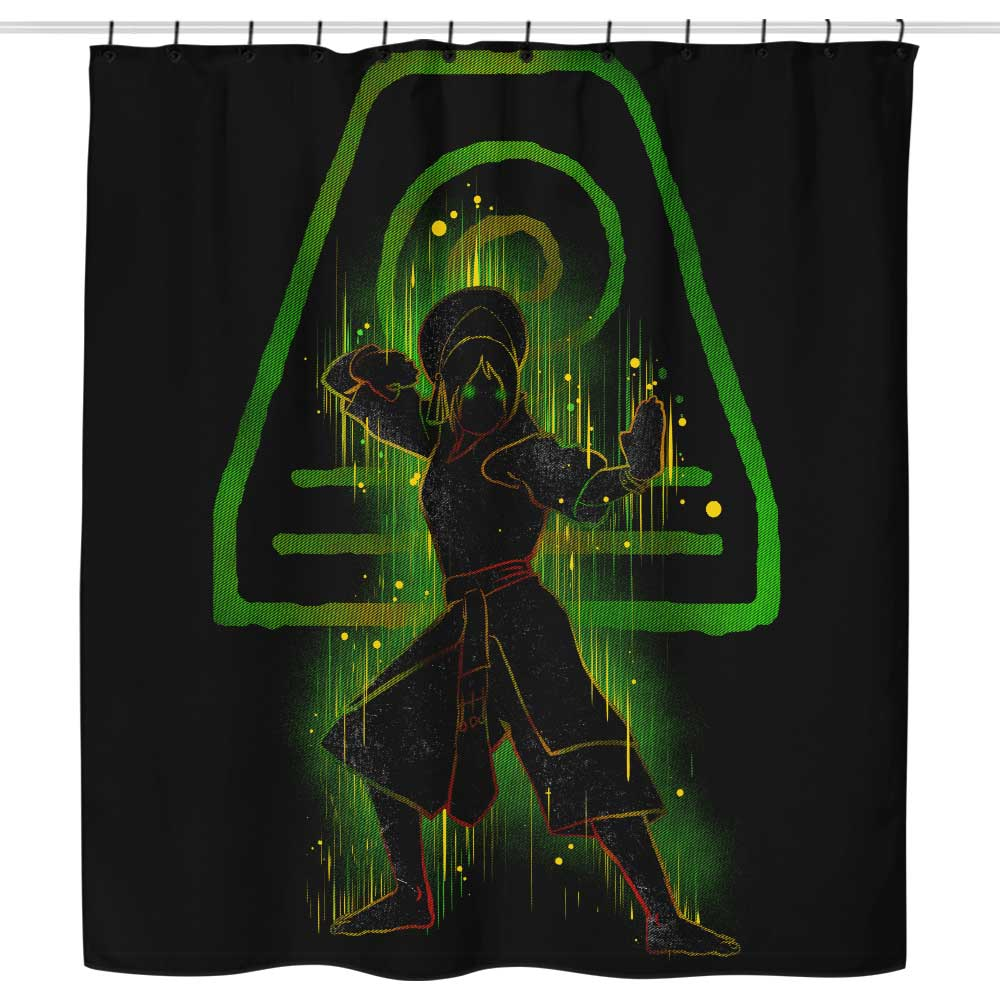 The Earth Bender - Shower Curtain