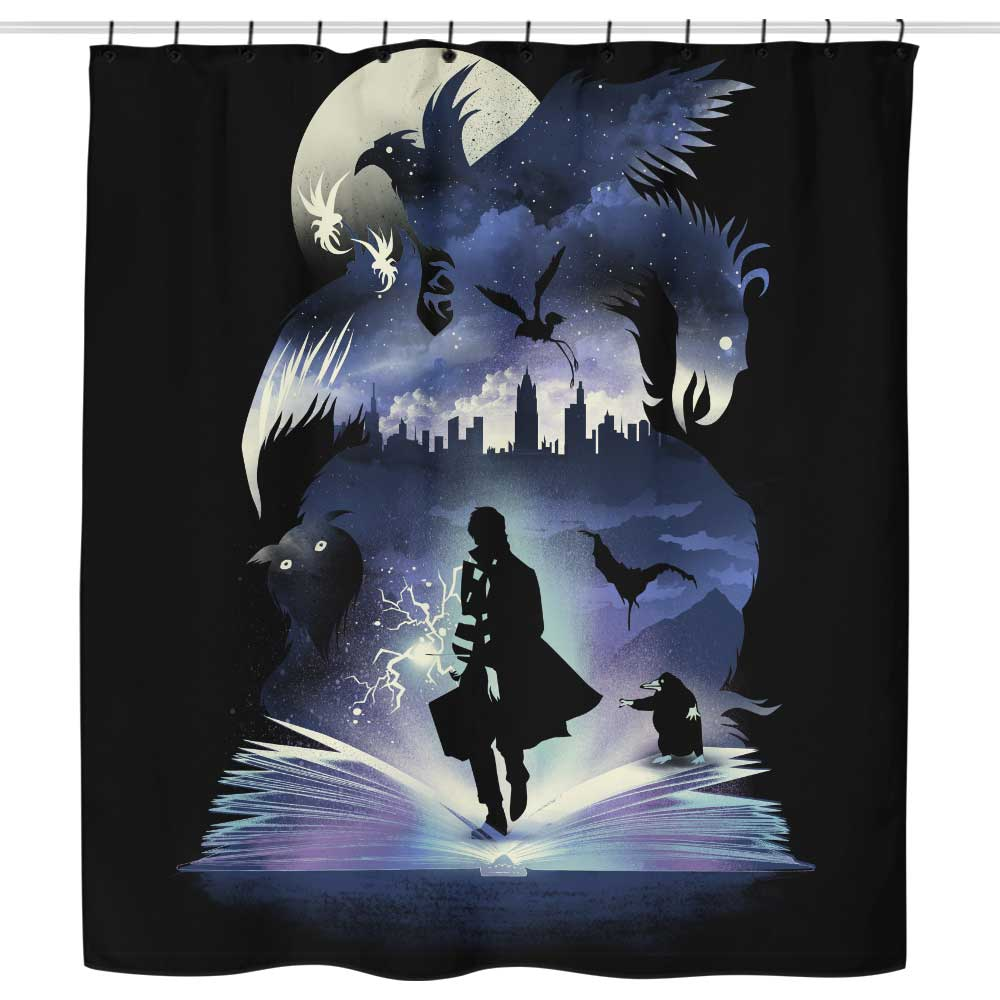 The Fantastic Book of Magic - Shower Curtain