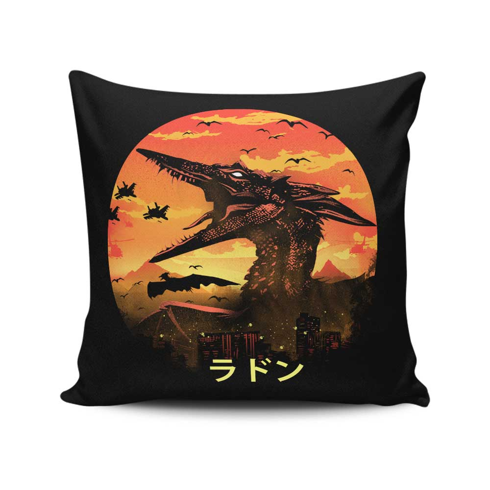 The Fire Pteranodon - Throw Pillow