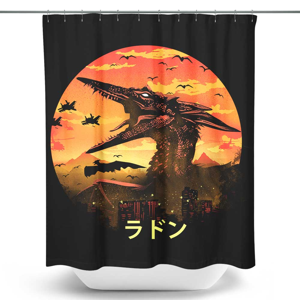 The Fire Pteranodon - Shower Curtain