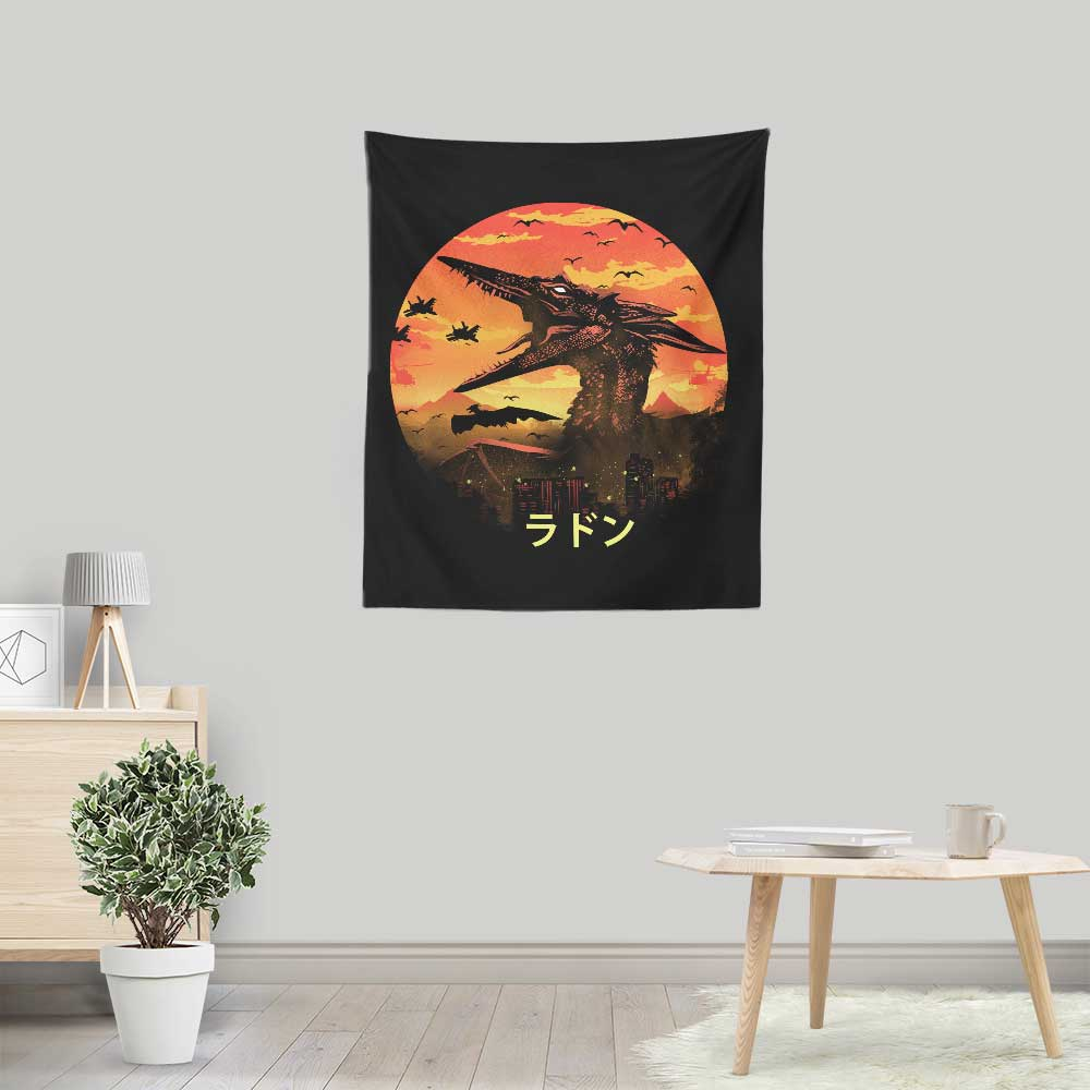 The Fire Pteranodon - Wall Tapestry