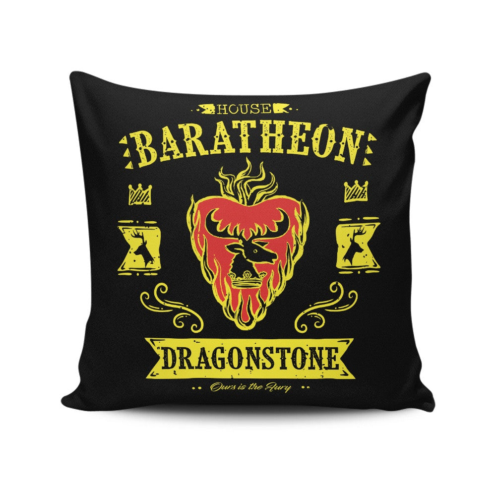 The Flaming Stag - Throw Pillow