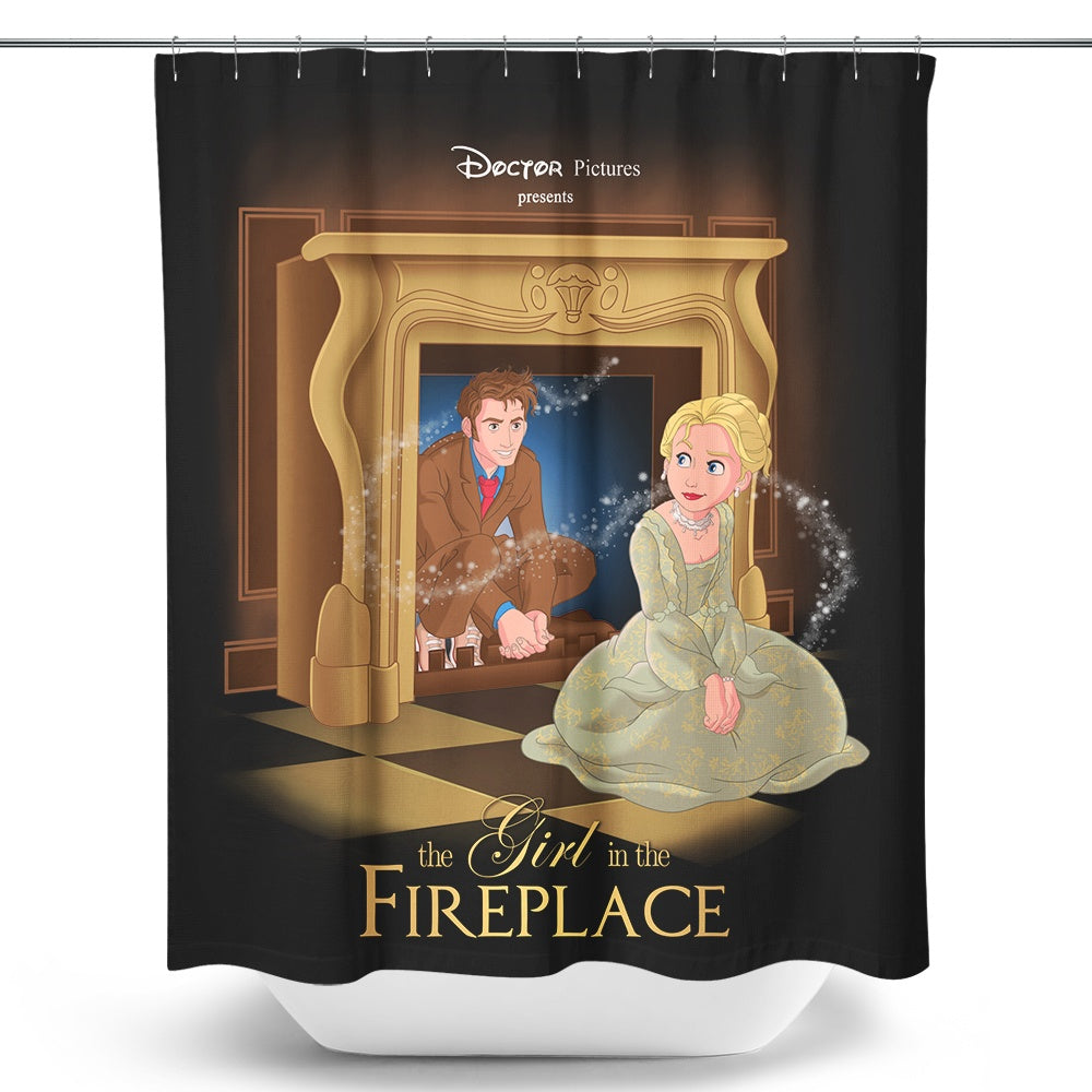 The Girl in the Fireplace - Shower Curtain