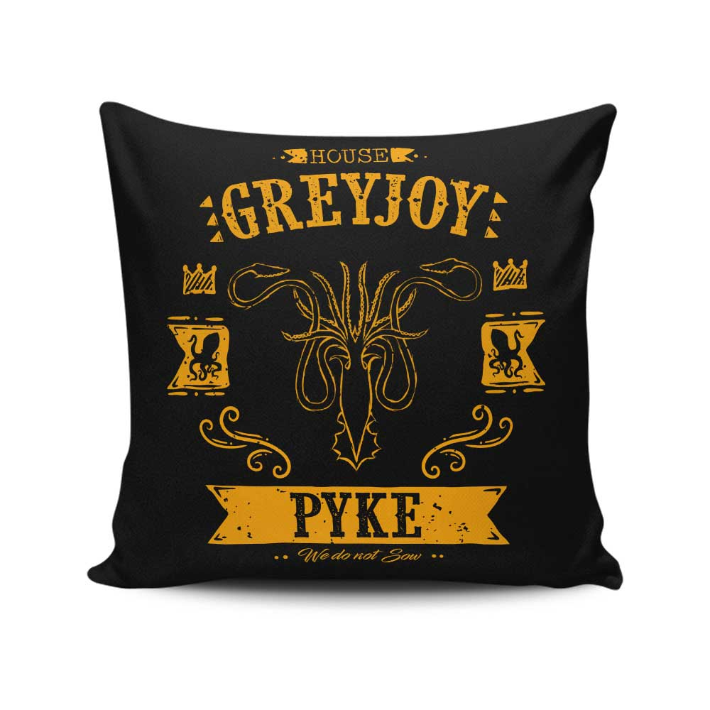 The Golden Kraken - Throw Pillow