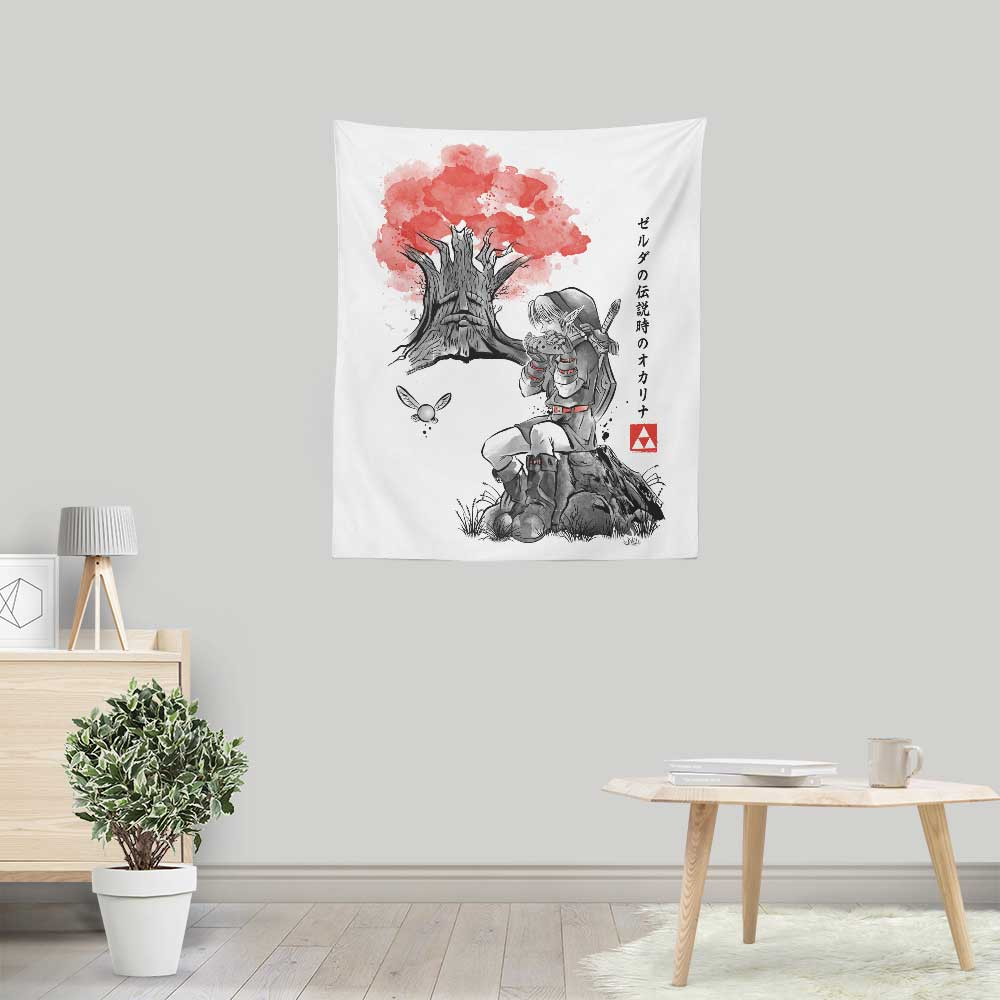 The Great Deku Sumi-e - Wall Tapestry