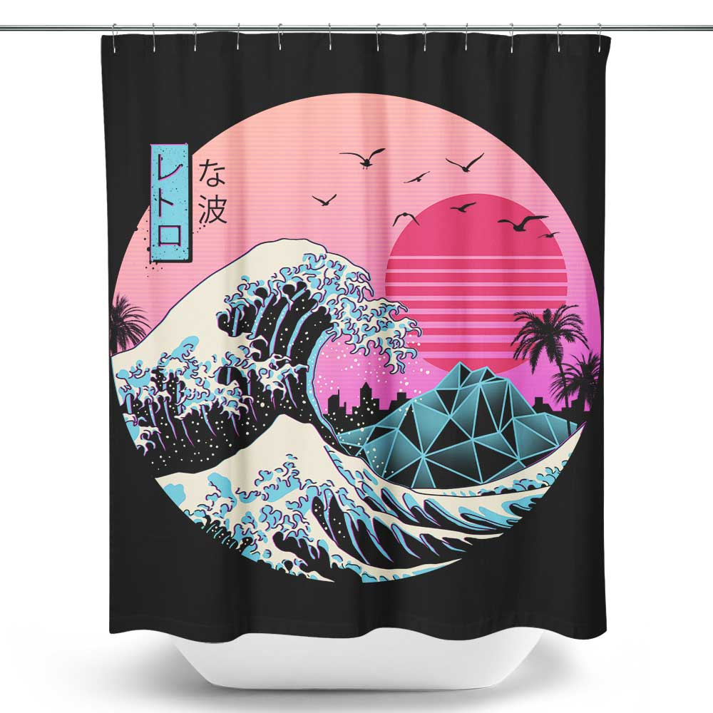 The Great Retro Wave - Shower Curtain