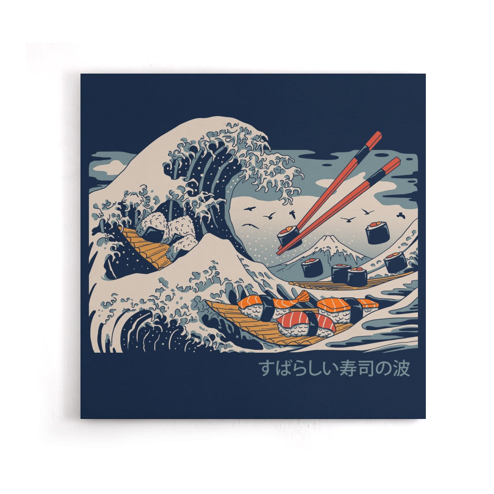 The Great Sushi Wave - Canvas Print