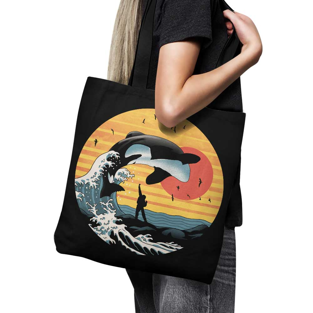 The Great Whale Off Kanagawa - Tote Bag