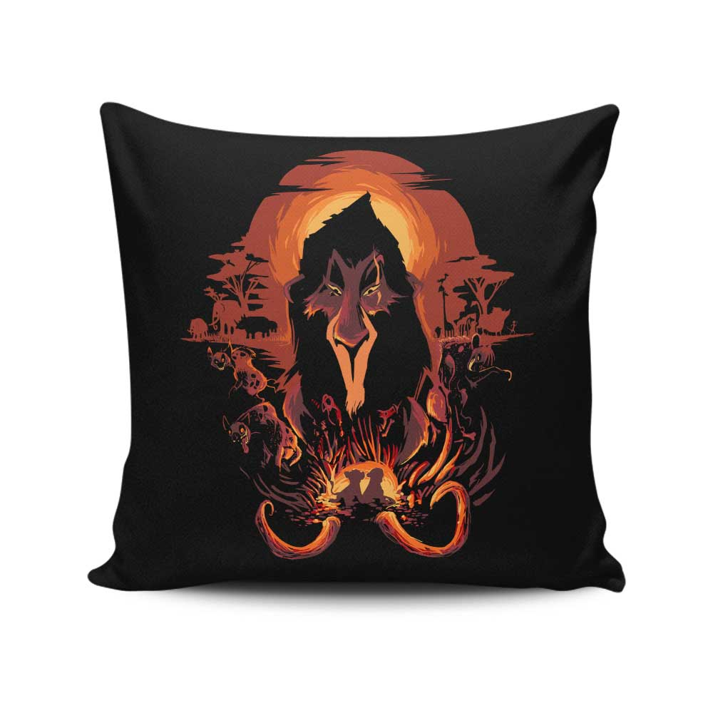 The King is Dead - Throw Pillow