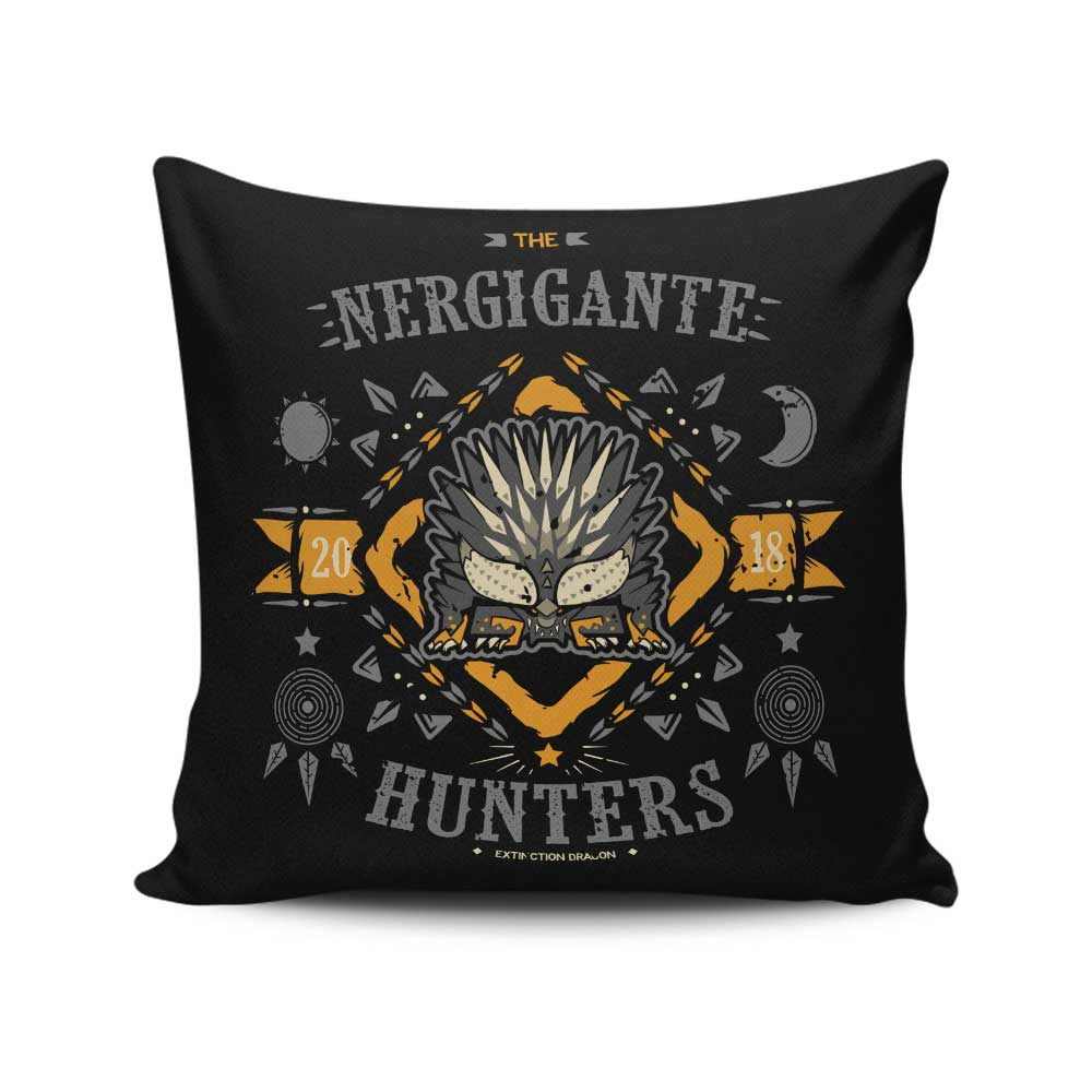 The Nergigante Hunters - Throw Pillow