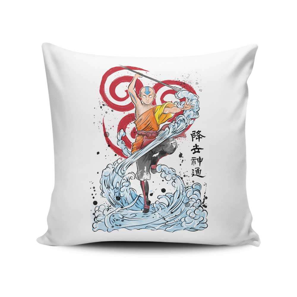 The Power of the Air Nomads - Throw Pillow
