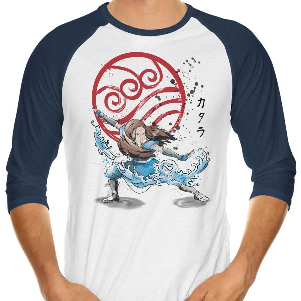 The Power of the Water Tribe - 3/4 Sleeve Raglan T-Shirt