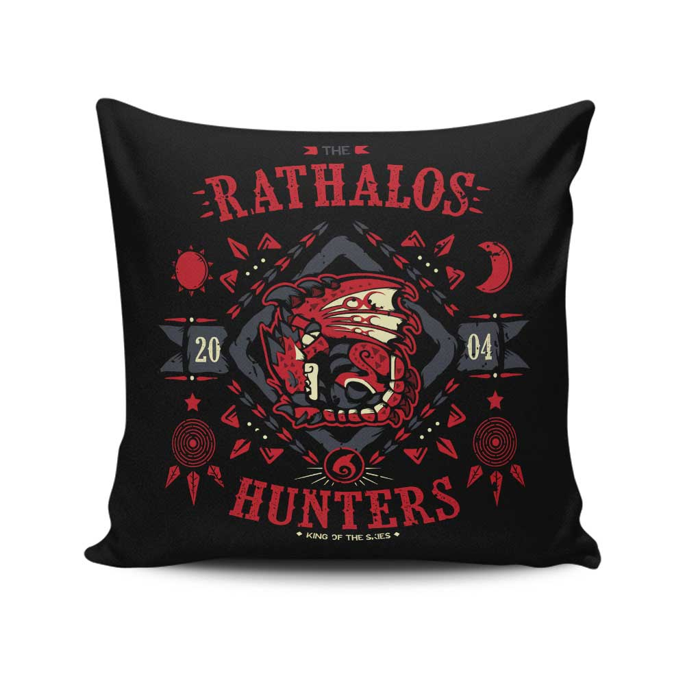 The Rathalos Hunters - Throw Pillow