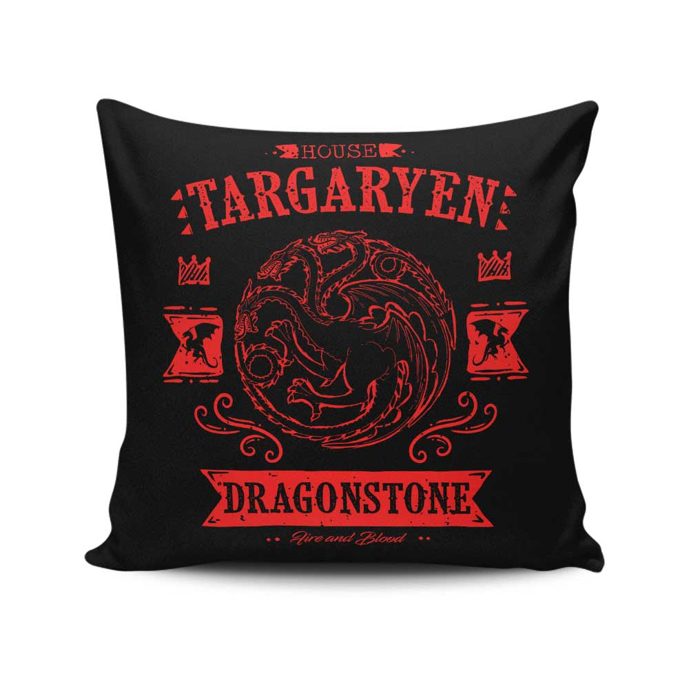 The Red Dragon - Throw Pillow