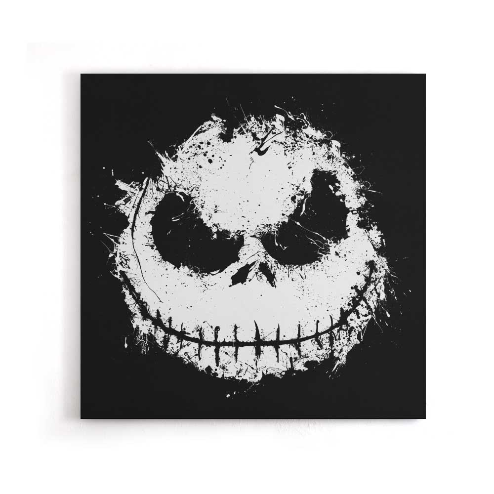 The Skeleton Grin - Canvas Print