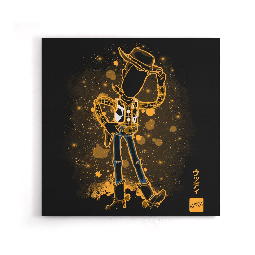 The Toy Cowboy - Canvas Print