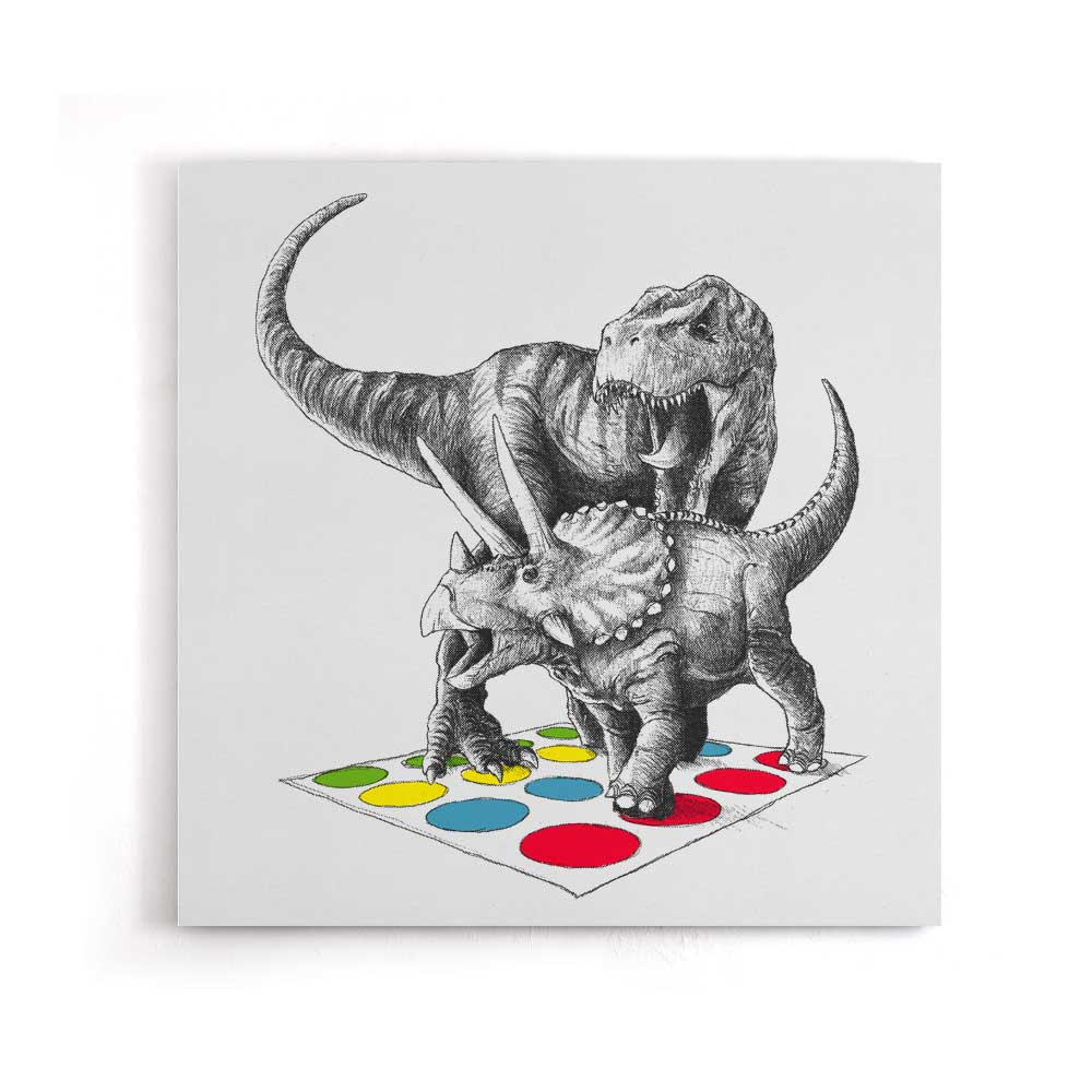 The Ultimate Dino Battle - Canvas Print