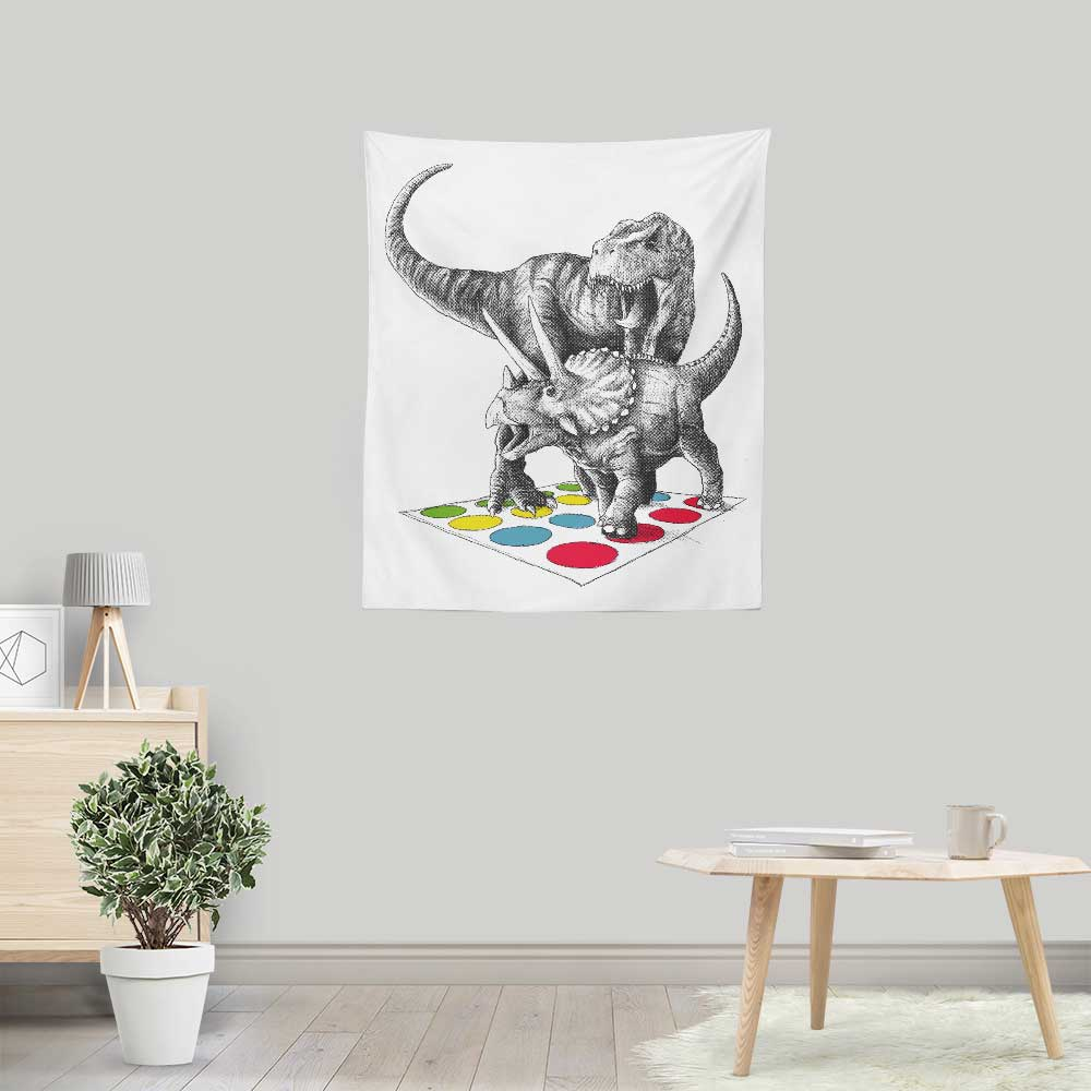 The Ultimate Dino Battle - Wall Tapestry