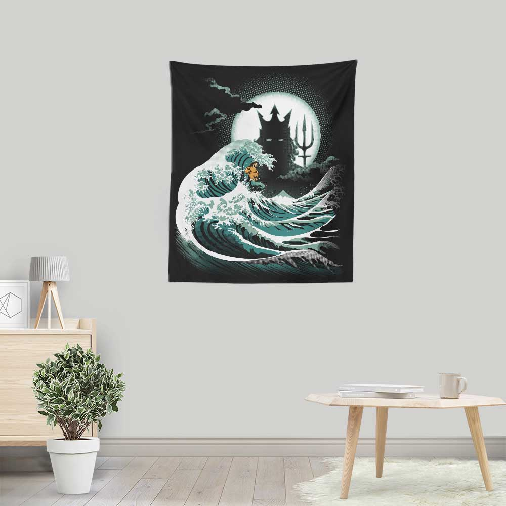 The Wave of Atlantis - Wall Tapestry