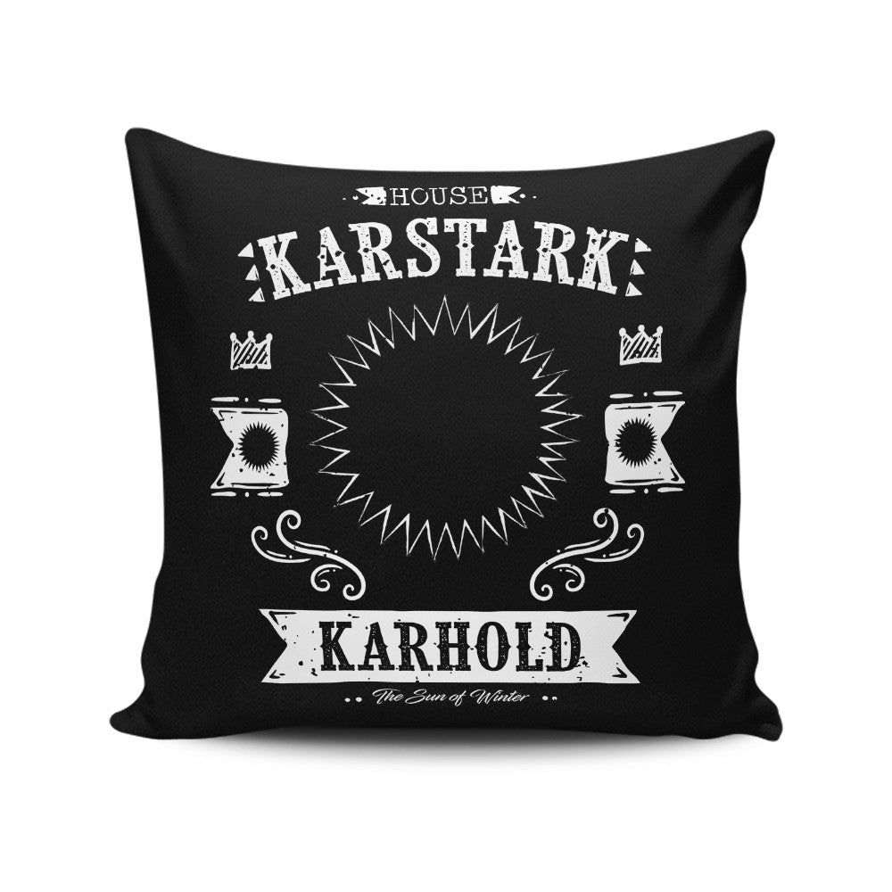 The White Starburst - Throw Pillow