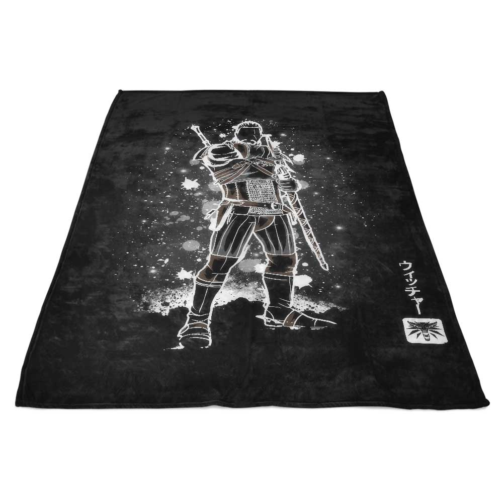 The White Wolf (Alt) - Fleece Blanket