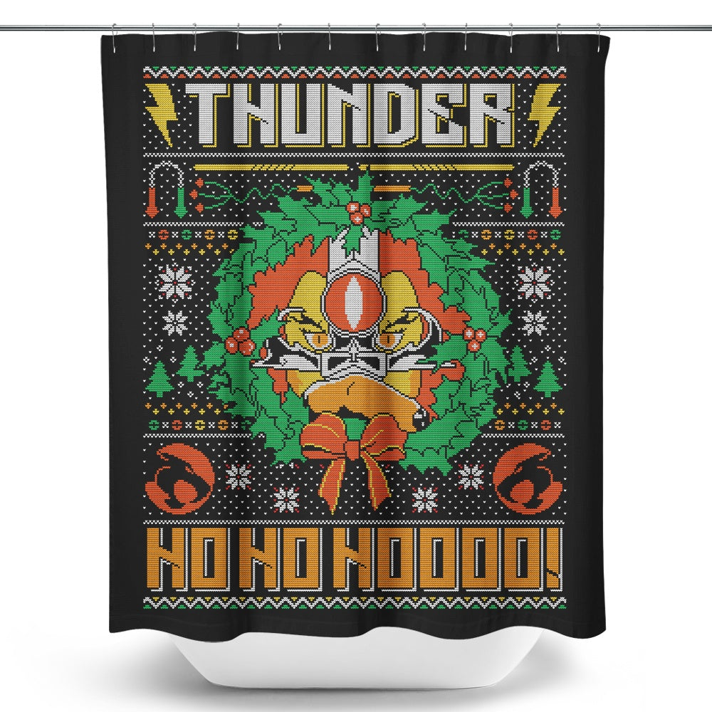 Thunder Ho, Ho, Ho - Shower Curtain