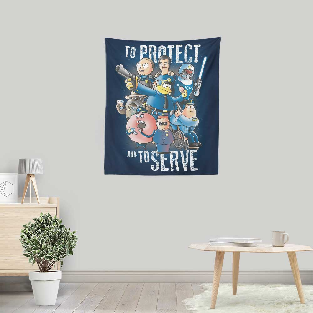 To Protect and Serve - Wall Tapestry