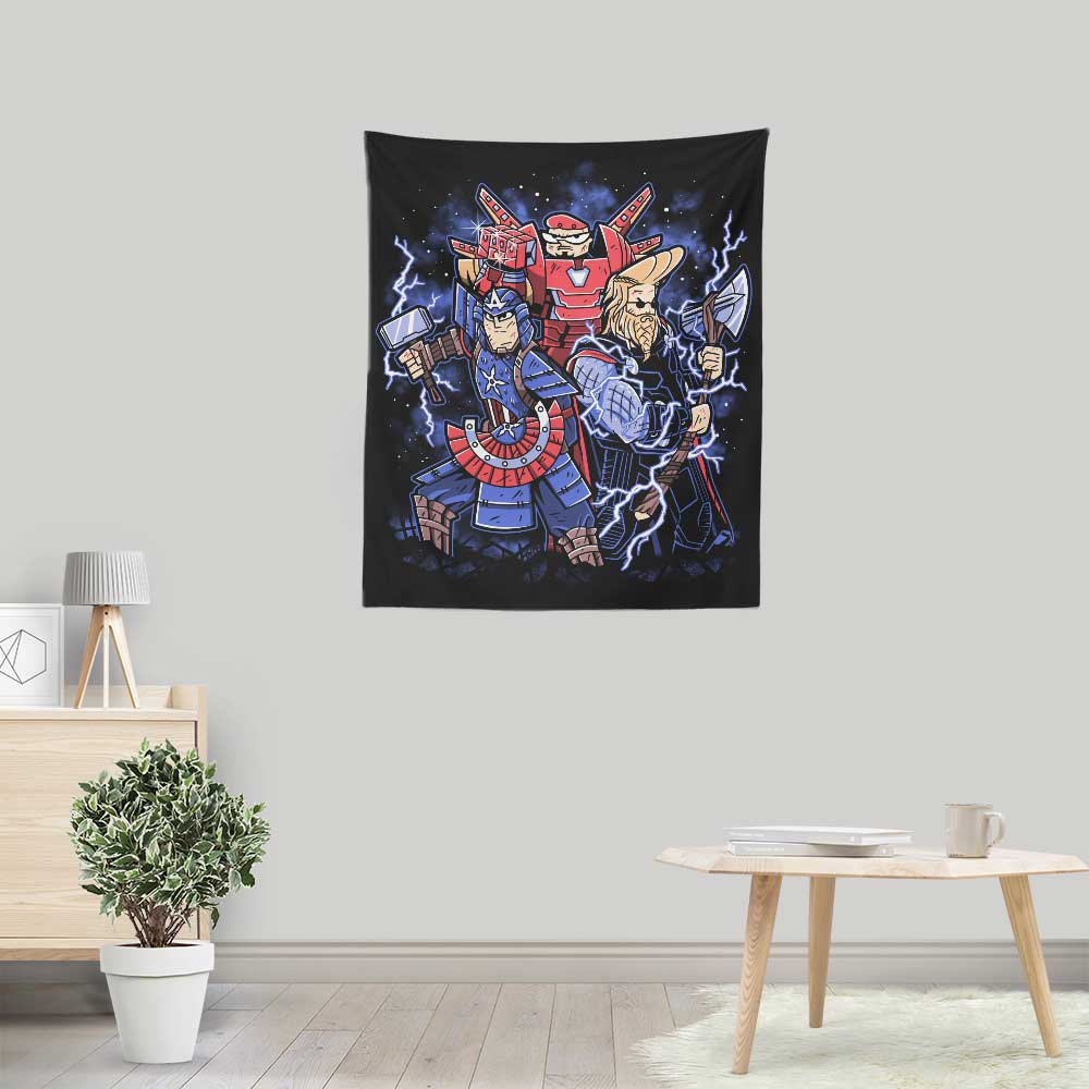 Toonvengers Trinity - Wall Tapestry
