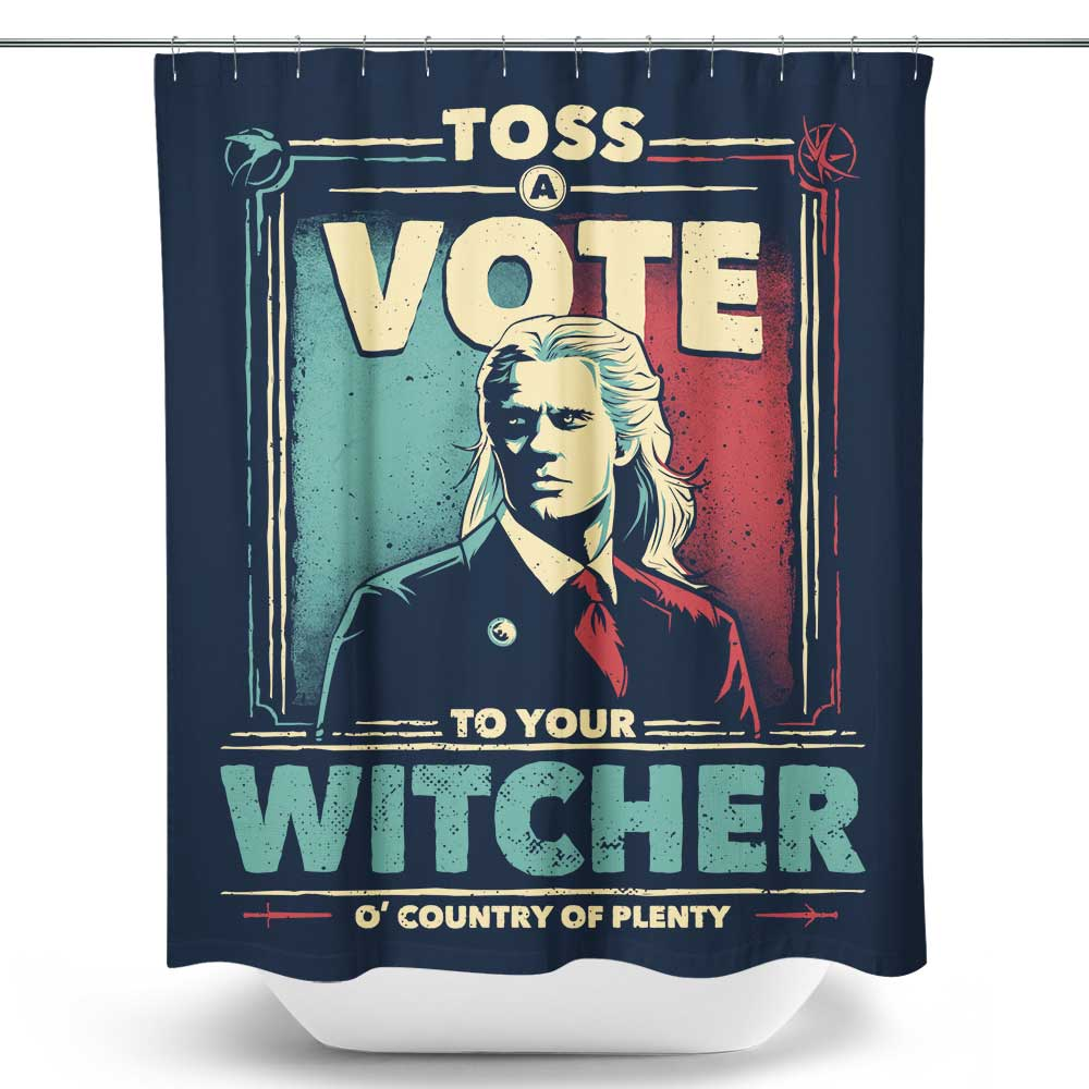 Toss a Vote - Shower Curtain