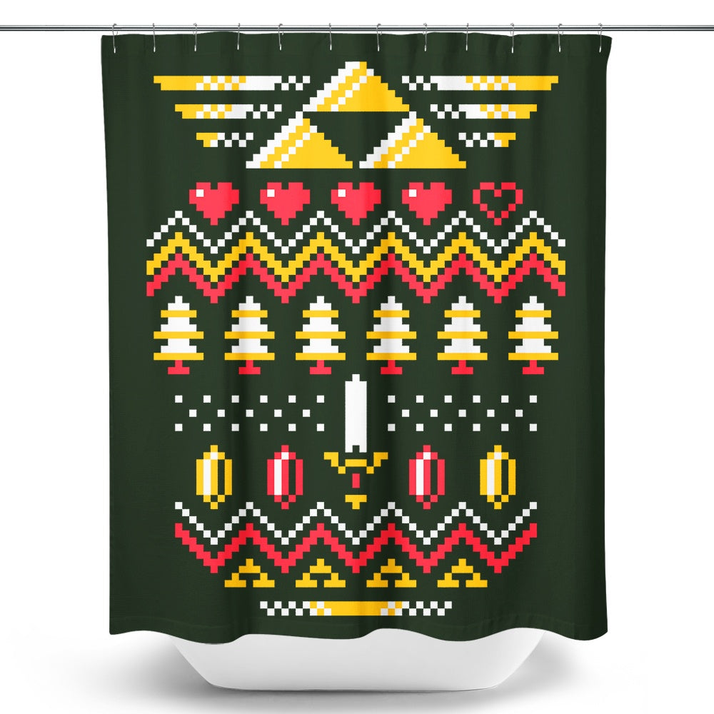 Triforce Holiday - Shower Curtain