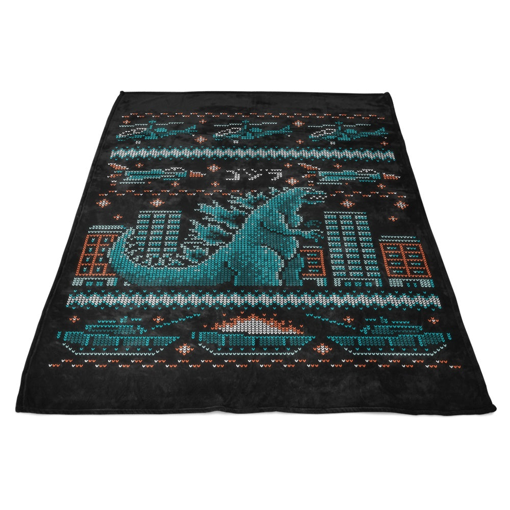 Ugly Kaiju Sweater - Fleece Blanket