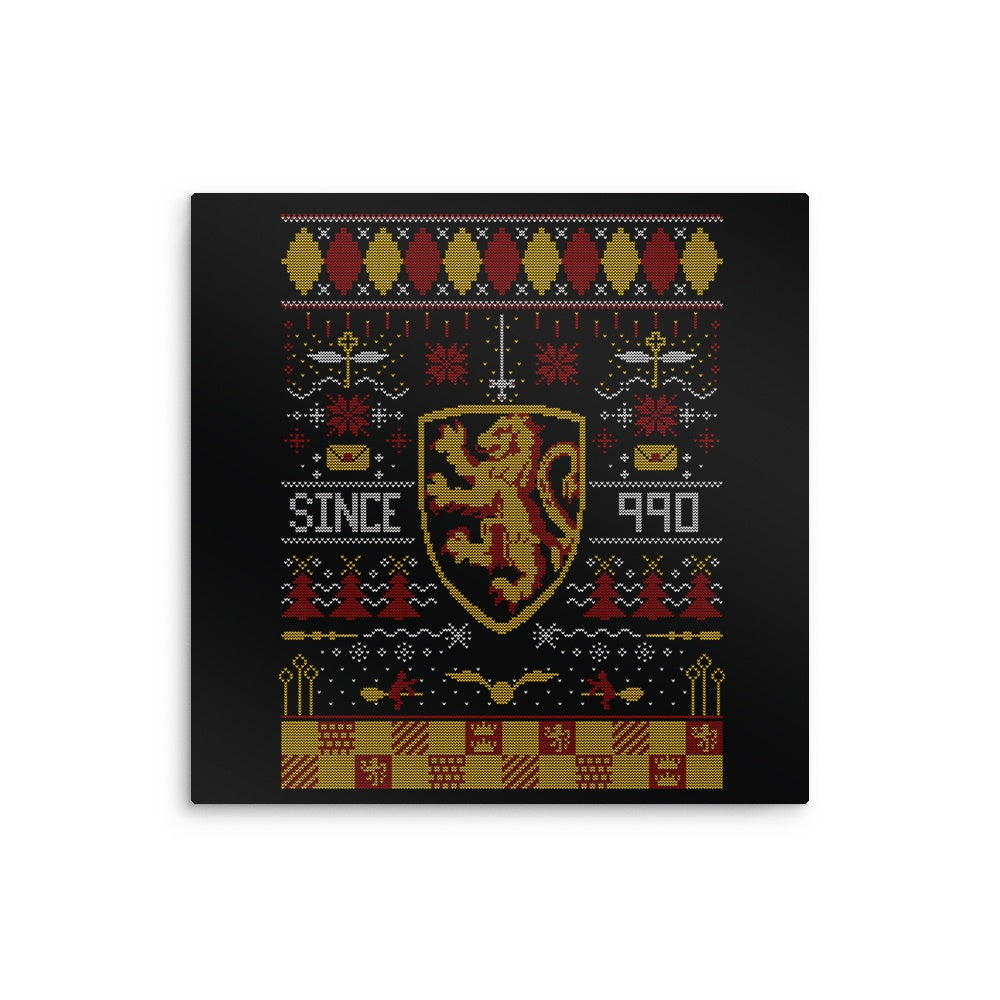 Ugly Lion Sweater - Metal Print