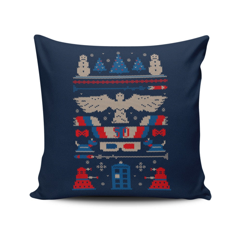 Ugly Who Sweater - Throw Pillow