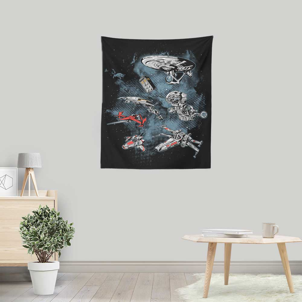 Ultimate Space Fleet - Wall Tapestry