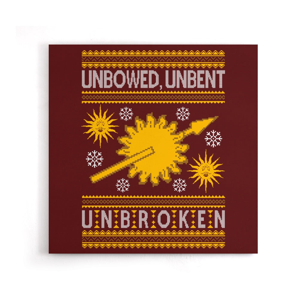 Unbowed. Unwrapped. Unbroken. - Canvas Print