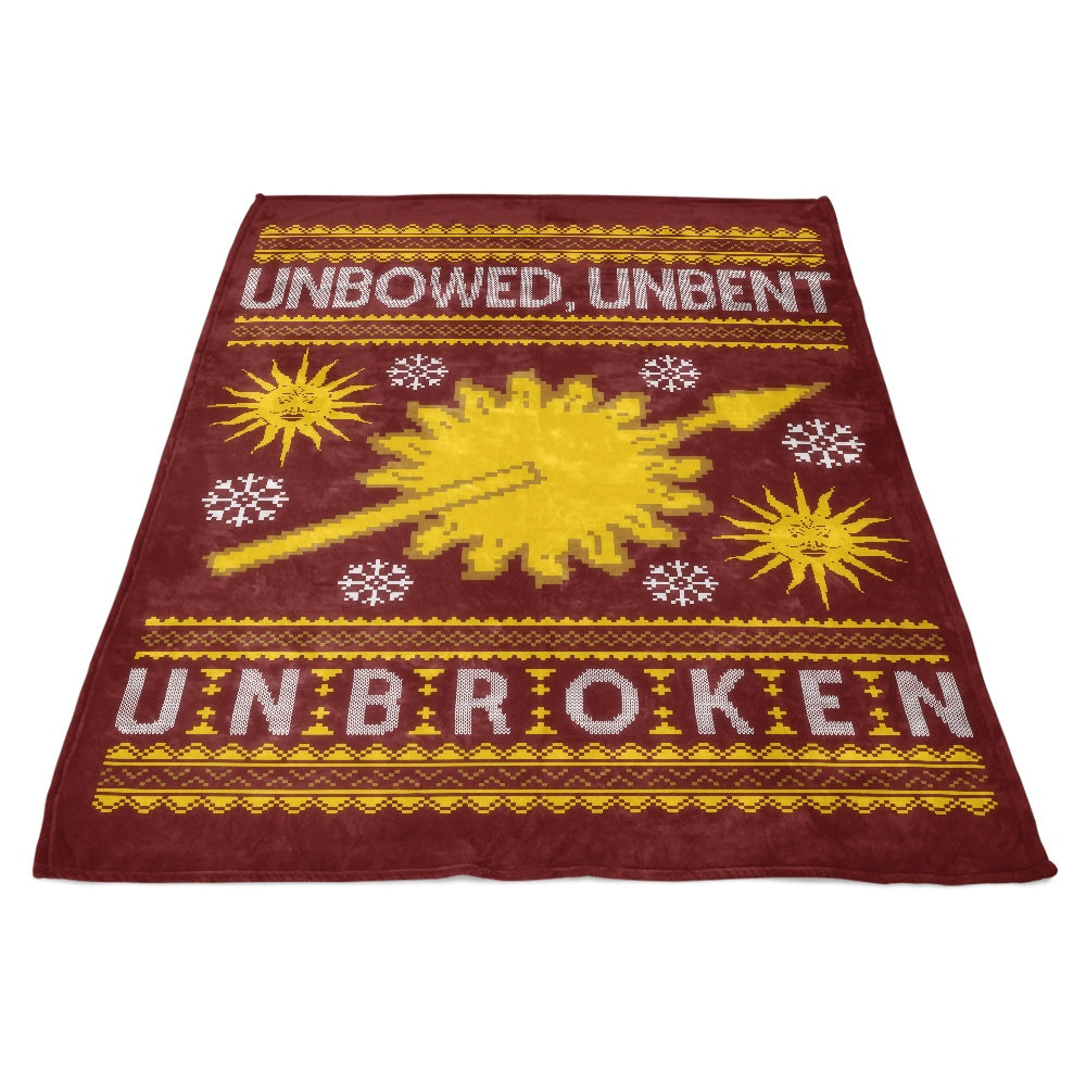 Unbowed. Unwrapped. Unbroken. - Fleece Blanket