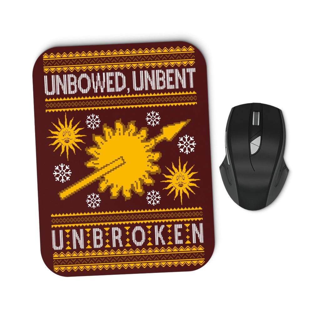 Unbowed. Unwrapped. Unbroken. - Mousepad