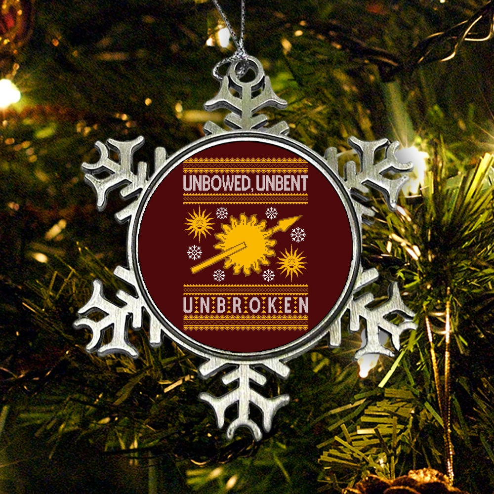 Unbowed. Unwrapped. Unbroken. - Ornament