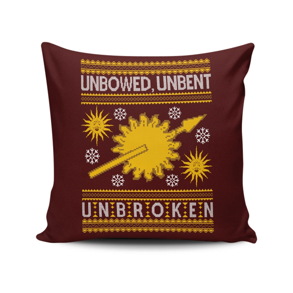 Unbowed. Unwrapped. Unbroken. - Throw Pillow