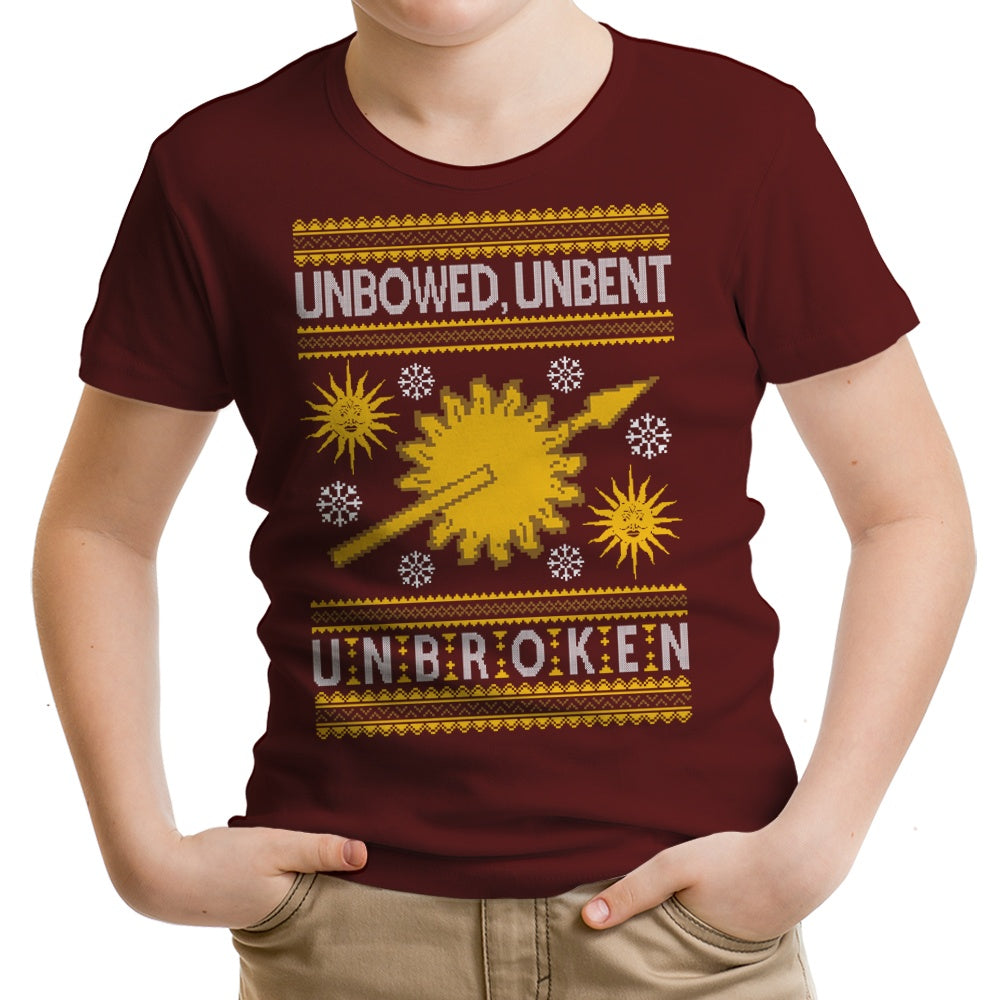 Unbowed. Unwrapped. Unbroken. - Youth Apparel