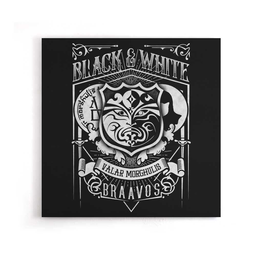 Vintage Black and White - Canvas Print