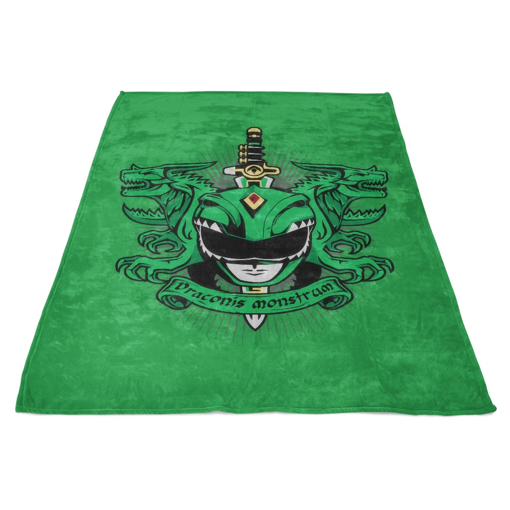 Viridis Draconis Monstrum - Fleece Blanket
