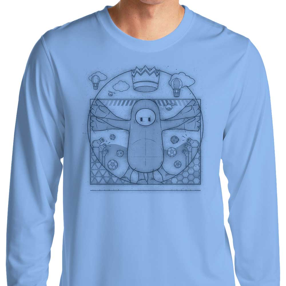 Virtruvian Guy - Long Sleeve T-Shirt