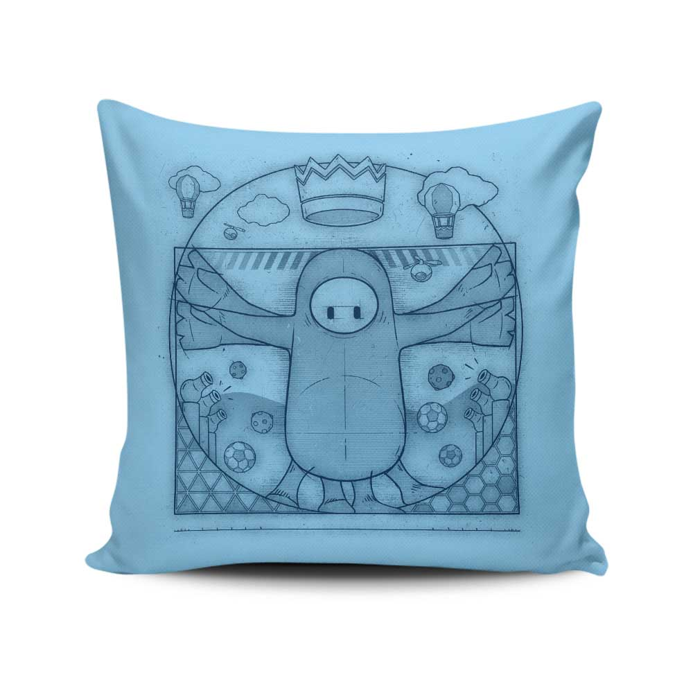 Virtruvian Guy - Throw Pillow