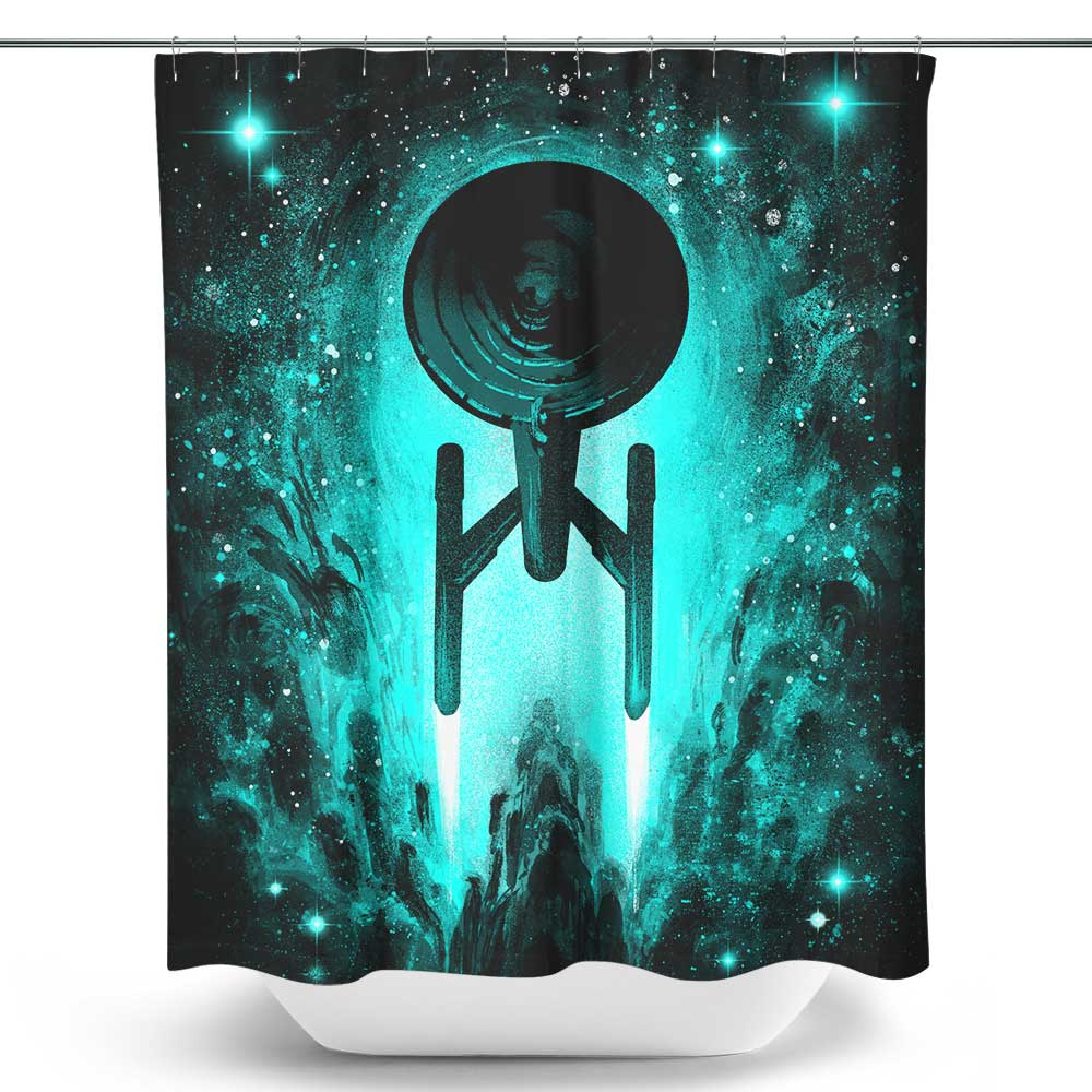 Voyages in Space - Shower Curtain