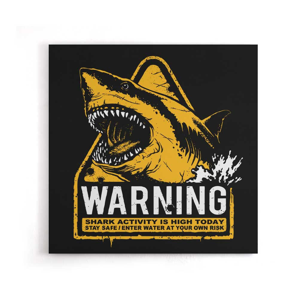 Warning: Maneater - Canvas Print