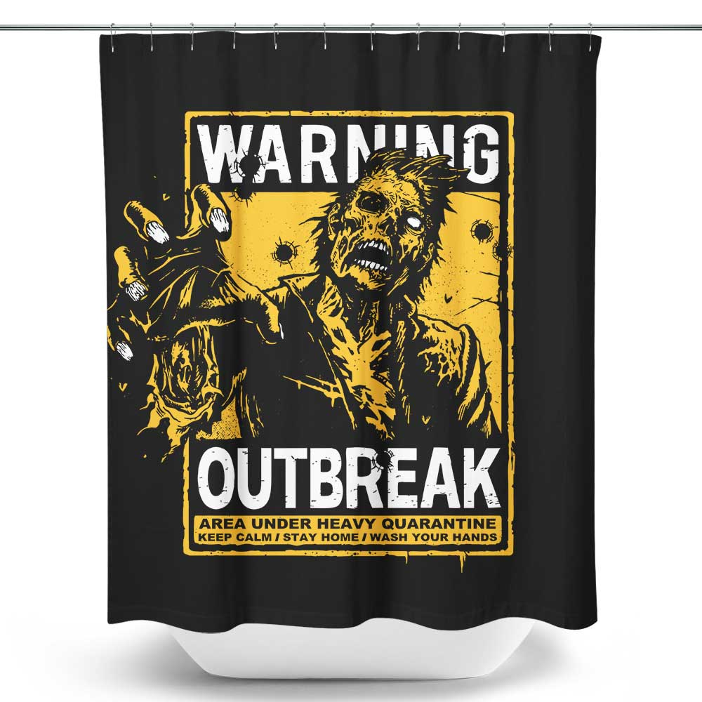 Warning: Outbreak - Shower Curtain